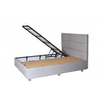 Box spring with storage space + luxury pocket mattress - blocks