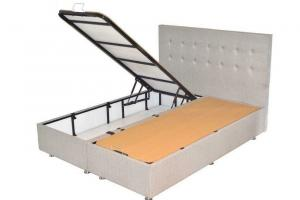 Box spring with storage space + luxury pocket mattress - buttons